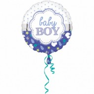 Balon folie metalizata, 43cm, Baby Boy