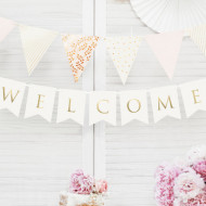 Banner Welcome, alb, 15 x 95 cm