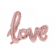 Balon folie Love, Rose gold