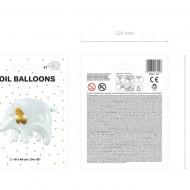 Balon-folie-elefant-alb