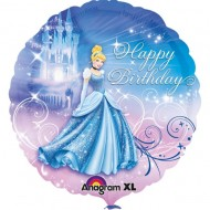 Balon folie metalizata, 43cm, Cinderella Birthday