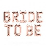 Set baloane folie Bride to be, 340x35cm, rose gold