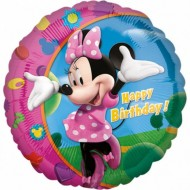 Balon folie metalizata, 43cm, Minnie Happy Birthday