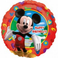 Balon folie metalizata, 43cm, Mickey's Clubhouse Happy Birthday