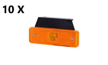 Pachet 10 lampi pozitie dreptunghiulare portocalii