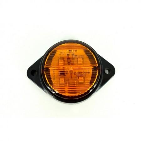 Poze Lampa Led rotunda portocalie 12V