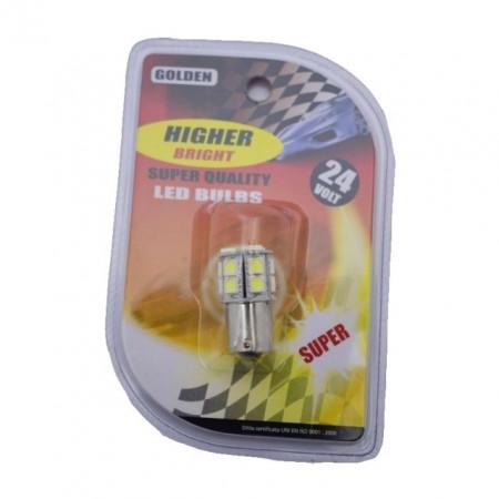 Poze BEC LED 24V BA15S ALB