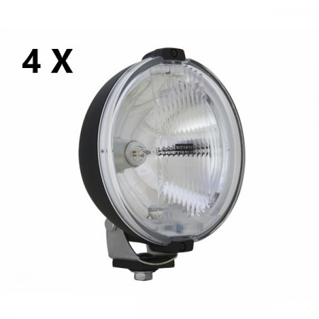 Pachet 4 proiectoare LED Ring sticla alba 24V
