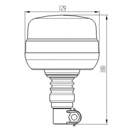 Girofar auto 12V / 24V orange LED 19W