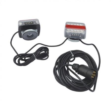Poze Set 2 lampi remorca cu LED, cablu si prindere magnetica