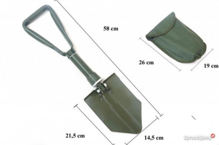 Lopata metal pliabila