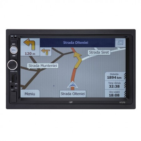 Navigatie multimedia PNI V7270 2 DIN cu GPS MP5, Bluetooth, Mirror Link