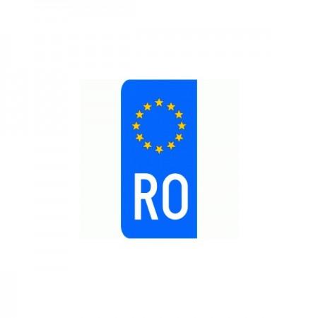 Autocolant RO EU pentru numar