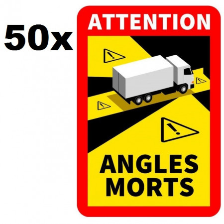"""PACHET 50 marcaje """"Angles morts"""" - MAGNETICE"""