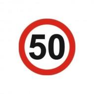 Indicator limitare viteza autocolant 50 km/ora