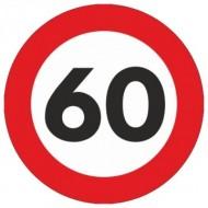 Indicator limitare viteza autocolant 60 km/ora Ø12