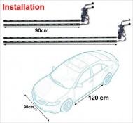 Kit banda LED SMD sub masina cu telecomanda