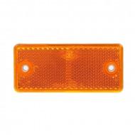 Catadioptru reflectorizant dreptunghiular portocaliu