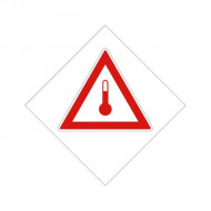 """Eticheta ADR suport aluminiu """"Transport substante cu temperatura ridicata"""""""