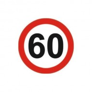 Indicator limitare viteza autocolant 60 km/ora