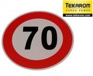Indicator limitare viteza autocolant 70 km/ora