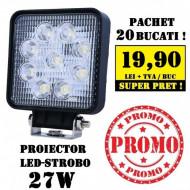 Pachet 20 Proiectoare LED-STROBO patrat 27W