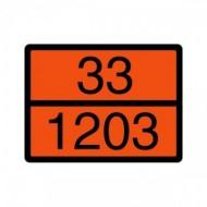 Tabla marcaj ADR Benzina