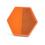 Catadioptru reflectorizant hexagonal portocaliu