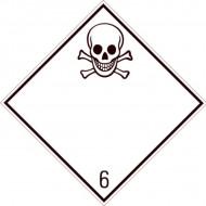 "Eticheta ADR suport aluminiu ""Pericol Transport substante toxice clasa 6.1"""