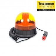 Girofar LED cu efect de rotatie sau stroboscopic si suport magnetic
