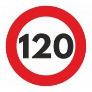 Indicator limitare viteza autocolant 120 km/ora Ø12