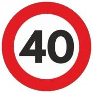 Indicator limitare viteza autocolant 40 km/ora Ø12