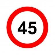 Indicator limitare viteza autocolant 45 km/ora