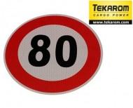 Indicator limitare viteza autocolant 80 km/ora