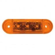 Lampa pozitie ovala portocalie 3 leduri