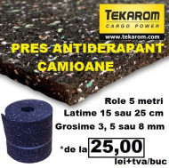 Pachet 5 presuri antiderapante - rola 5 metri - latime 25 cm - grosime 5 mm