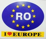 Autocolant RO I love Europe