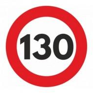Indicator limitare viteza autocolant 130 km/ora Ø12