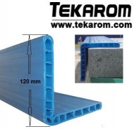 Coltare PET C4 - albastru - lungime 1,2 metri