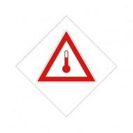 """Eticheta ADR autocolanta """"Transport substante cu temperatura ridicata"""""""