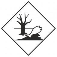 """Eticheta ADR suport aluminiu """"Pericol Transport substante periculoase pentru mediul inconjurator"""""""