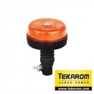 Girofar auto cu efect stroboscopic 12V/24V orange cu 12 LED-uri de 3W