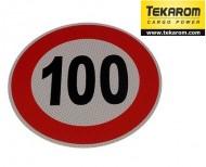Indicator limitare viteza autocolant 100 km/ora