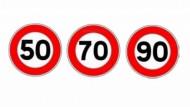 Pachet indicatoare limitare viteza autocolant 50 70 90 km/ora