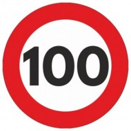 Indicator limitare viteza autocolant 100 km/ora Ø12