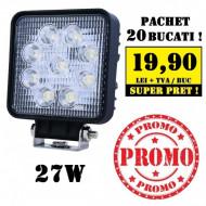 Pachet 20 Proiectoare LED patrate 27W
