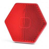 Catadioptru reflectorizant hexagonal rosu