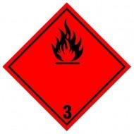 "Eticheta ADR autocolanta ""Pericol Transport lichide inflamabile"" clasa 3n"