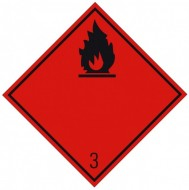 "Eticheta ADR suport aluminiu ""Transport lichide inflamabile clasa 3n"""