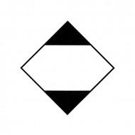 "Eticheta pliabila ADR suport aluminiu ""Pericol Transport Marfuri Periculoase Ambalate In Cantitati Limitate"""